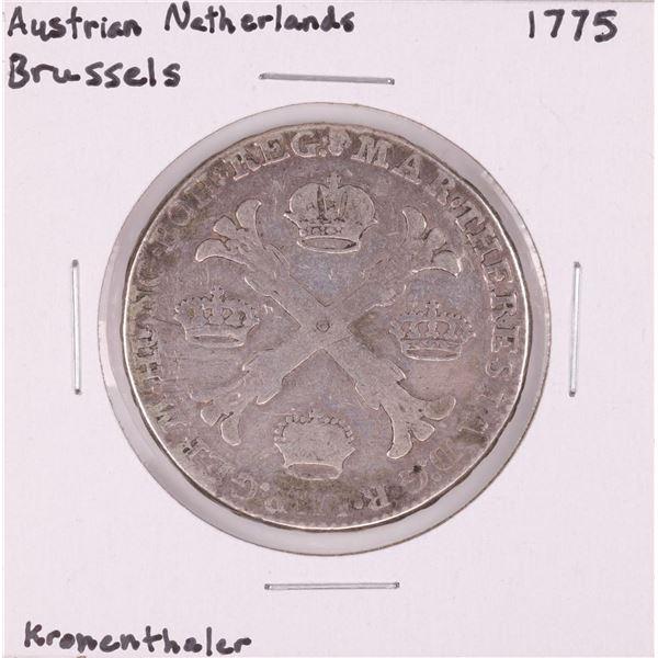 1775 Austrian Netherlands Brussels Kronenthaler Silver Coin