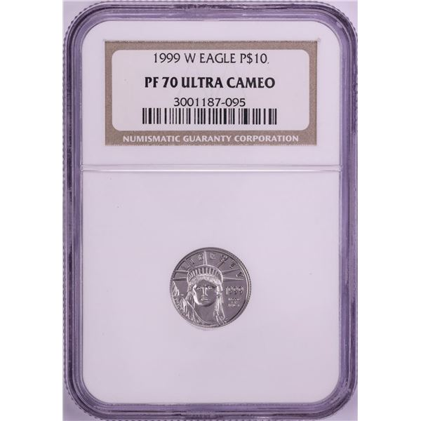 1999-W $10 Proof Platinum American Eagle Coin NGC PF70 Ultra Cameo