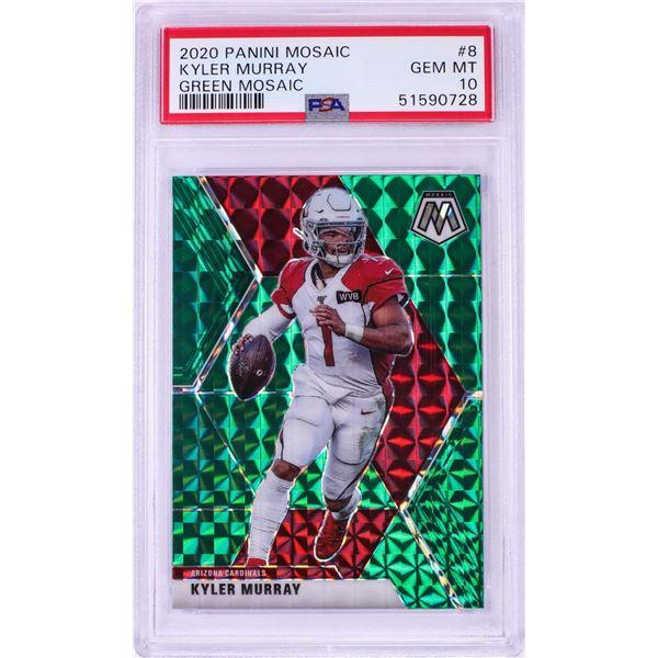 2020 Panini Green Mosaic Kyler Murray NFL Card #8 PSA Gem Mint 10