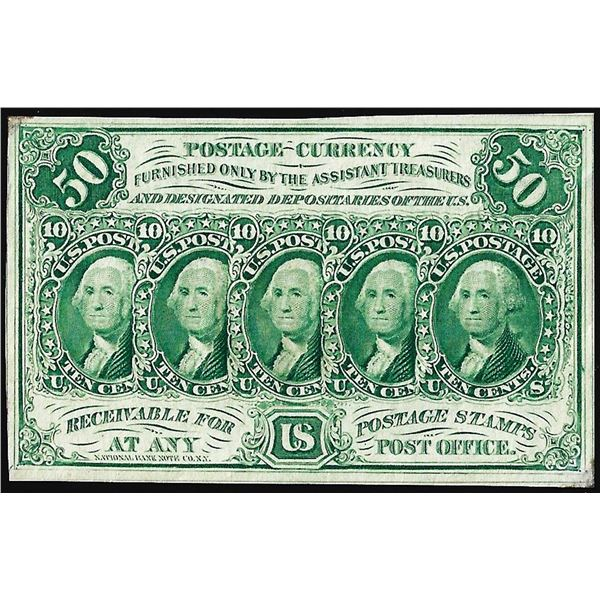 July 17, 1862 First Issue Fifty Cents Fractional Currency Note