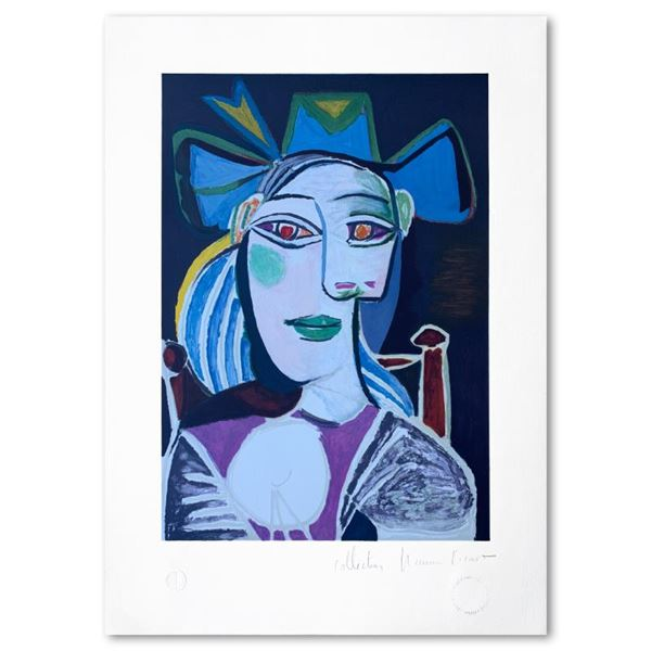"""Picasso (1881-1973) """"Femme Accoudee A Sa Fenetre"""" Limited Edition Lithograph On Paper"""