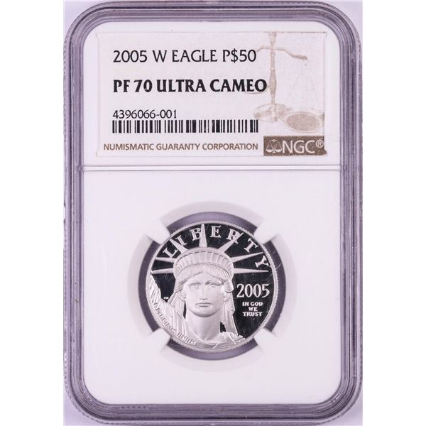2005-W $50 Proof Platinum American Eagle Coin NGC PF70 Ultra Cameo