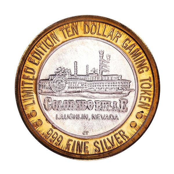 .999 Silver Colorado Belle Laughlin, Nevada $10 Casino Limited Edition Gaming Token