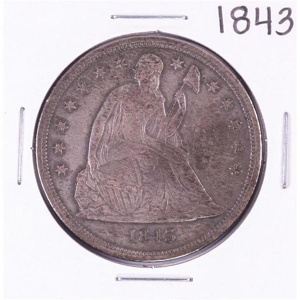 1843 Seated Liberty Silver Dollar