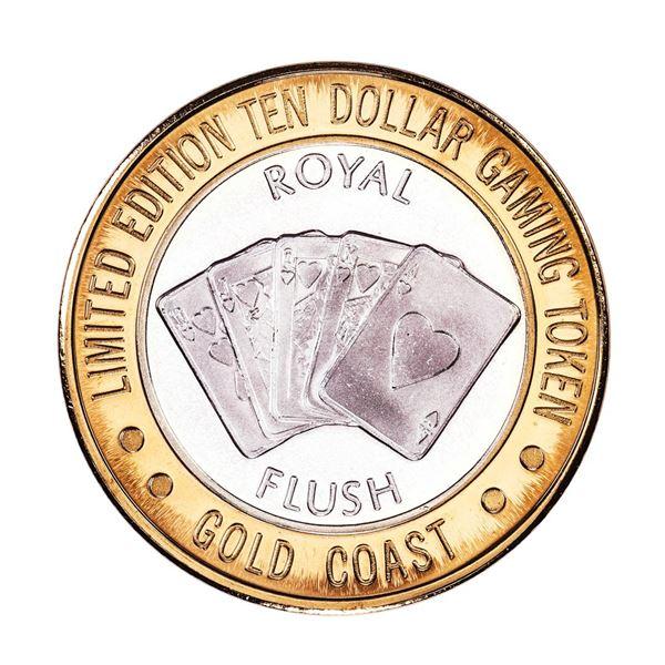 .999 Fine Silver Gold Coast Las Vegas $10 Casino Limited Edition Gaming Token