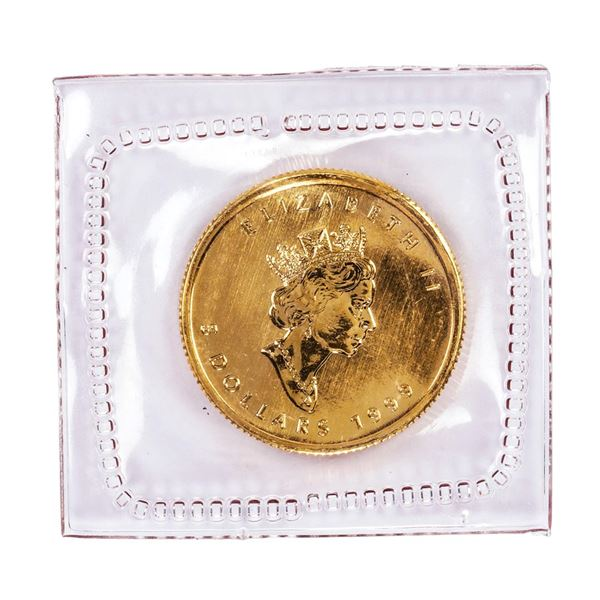 Sealed 1999 Canadian $5 Maple Leaf Gold Coin