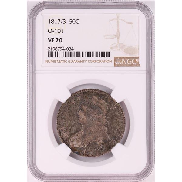 1817/3 Capped Bust Half Dollar Coin NGC VF20 O-101