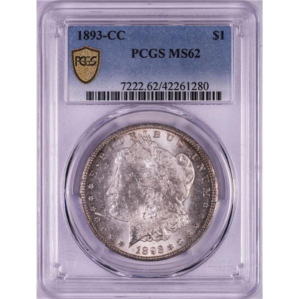 1893-CC $1 Morgan Silver Dollar Coin PCGS MS62