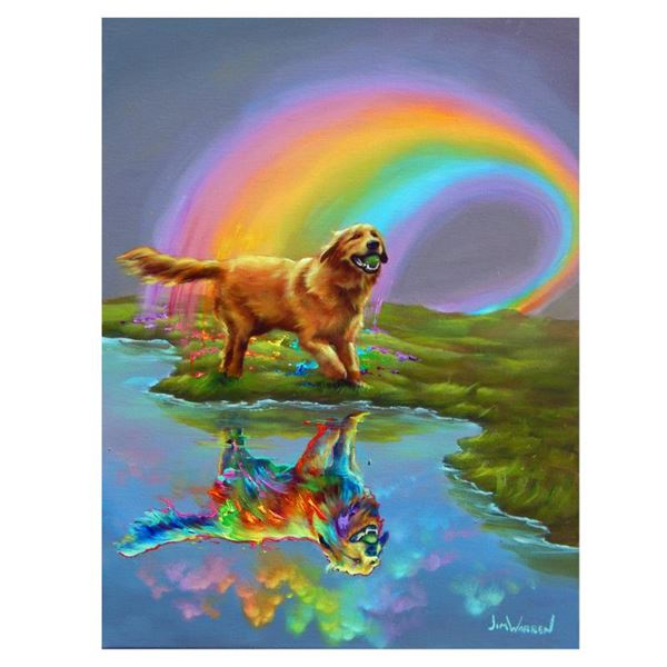 """Jim Warren """"Gold At The End Of The Rainbow"""" Limited Edition Giclee On Canvas"""