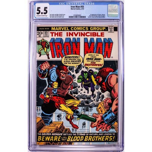 Marvel Comics The Invincible Iron Man #55 Comic Book 2/73 CGC 5.5