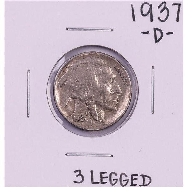 1937-D 3 Legged Buffalo Nickel Coin