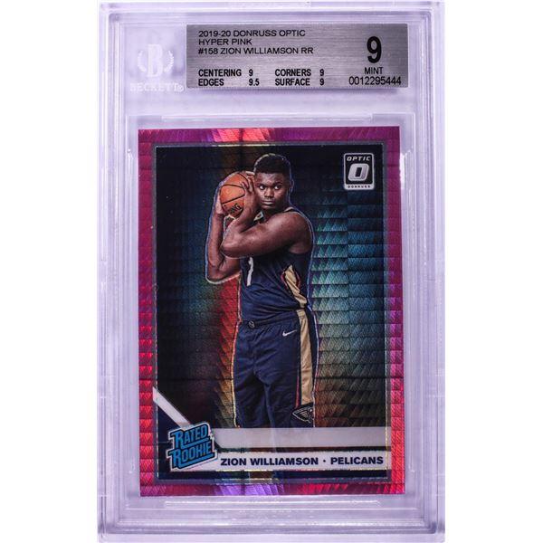 2019 Donruss Optic Hyper Pink Zion Williamson NBA Card #158 BGS Mint 9