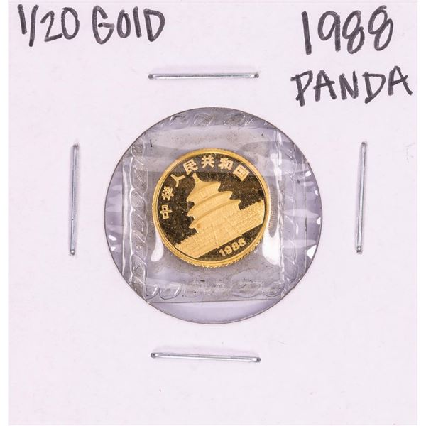 1988 China 1/20 oz Gold 5 Yuan Panda Coin