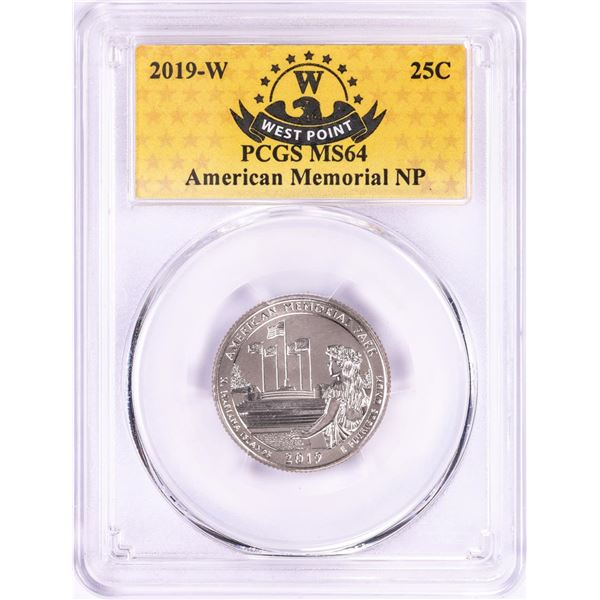 2019-W American Memorial National Park Quarter Coin PCGS MS64
