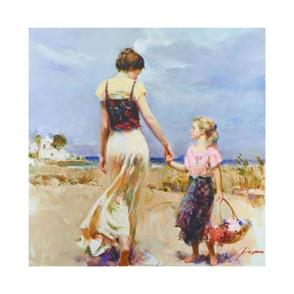 """Pino (1939-2010) """"Let'S Go Home"""" Limited Edition Giclee On Canvas"""
