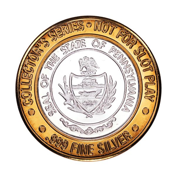 .999 Fine Silver Caesars Atlantic City, NJ $10 Limited Edition Gaming Token