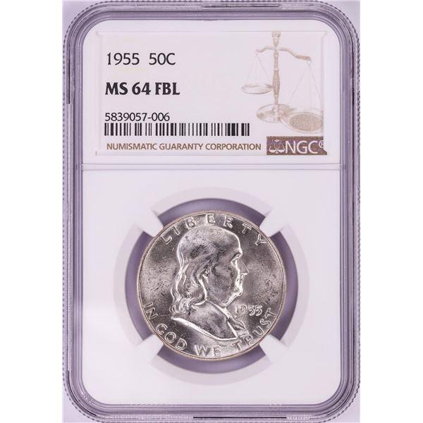 1955 Franklin Half Dollar Coin NGC MS64FBL