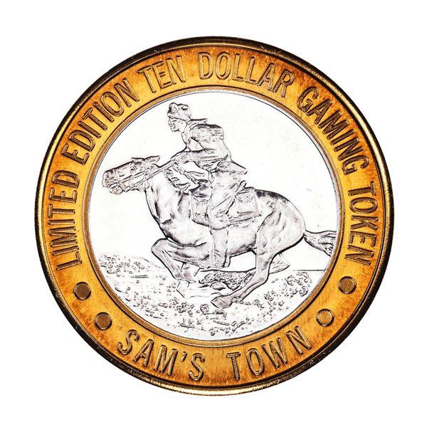 .999 Silver Sam's Town Las Vegas, NV $10 Casino Limited Edition Gaming Token