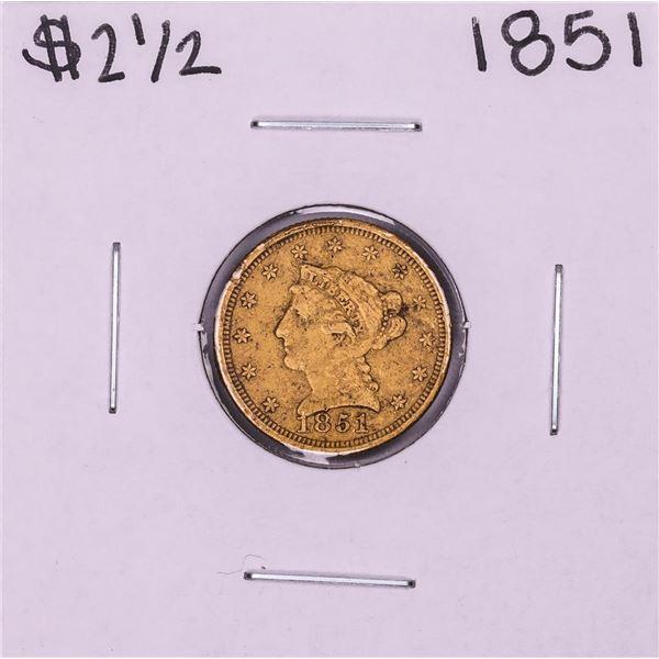 1851 $2 1/2 Liberty Head Quarter Eagle Gold Coin