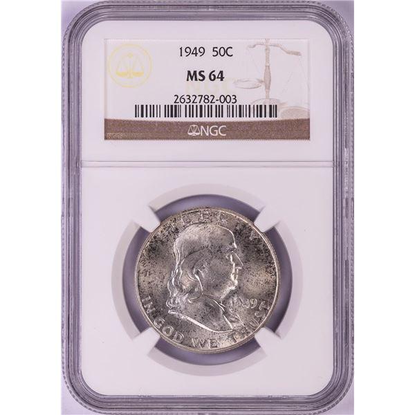 1949 Franklin Half Dollar Coin NGC MS64