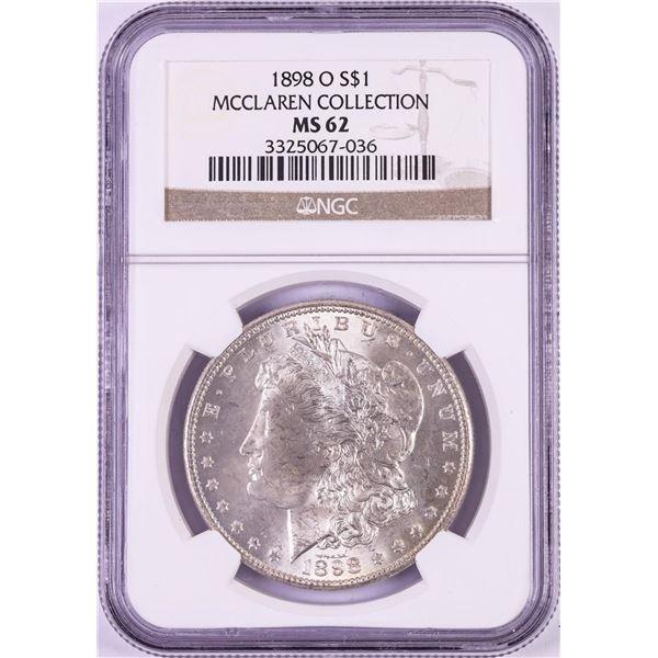1898-O $1 Morgan Silver Dollar Coin NGC MS62