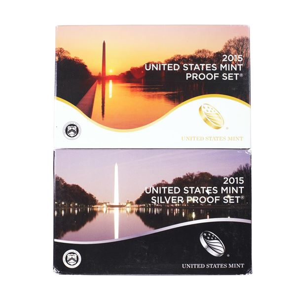 Lot of (2) 2015 United States Mint Proof Sets