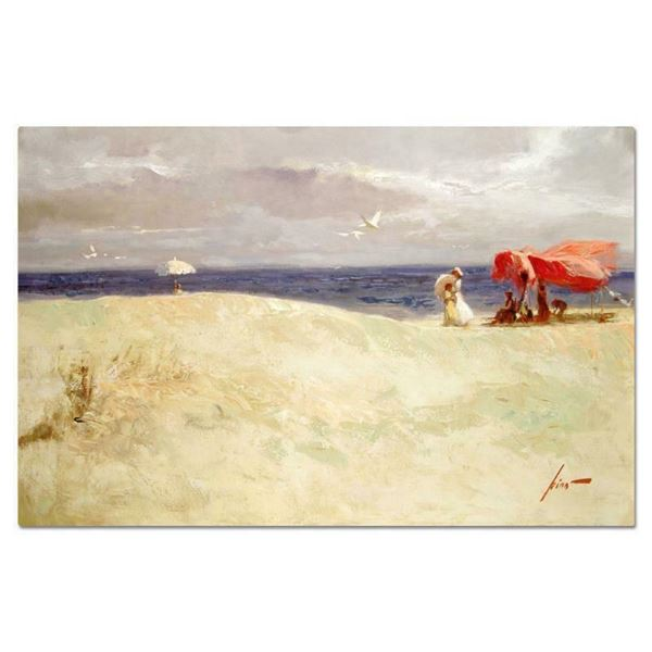 """Pino (1939-2010) """"White Sand"""" Limited Edition Giclee On Canvas"""