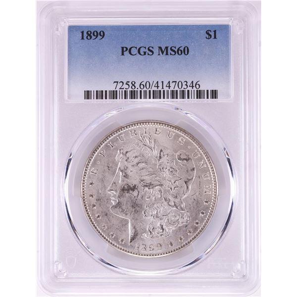 1899 $1 Morgan Silver Dollar Coin PCGS MS60