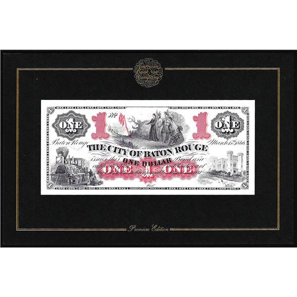 1994 American Bank Note Company Intaglio Print The City of Baton Rouge, LA
