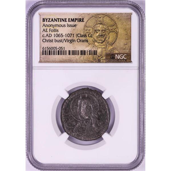 AD 1065-1071 Byzantine Empire AE Follis Ancient Coin NGC Graded