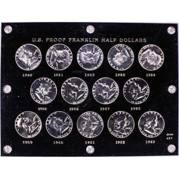 1950-1963 Proof Franklin Half Dollar Coin Set in Capitol Plastic