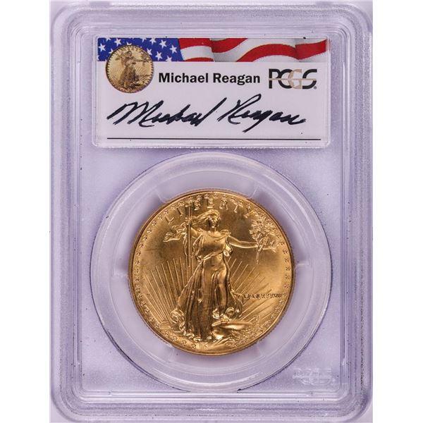 1987 $50 American Gold Eagle Coin PCGS MS69 Michael Reagan Signature