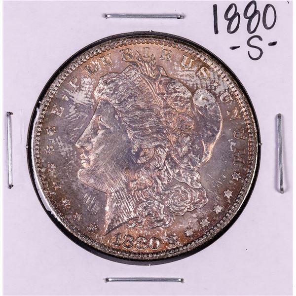 1880-S $1 Morgan Silver Dollar Coin Nice Toning