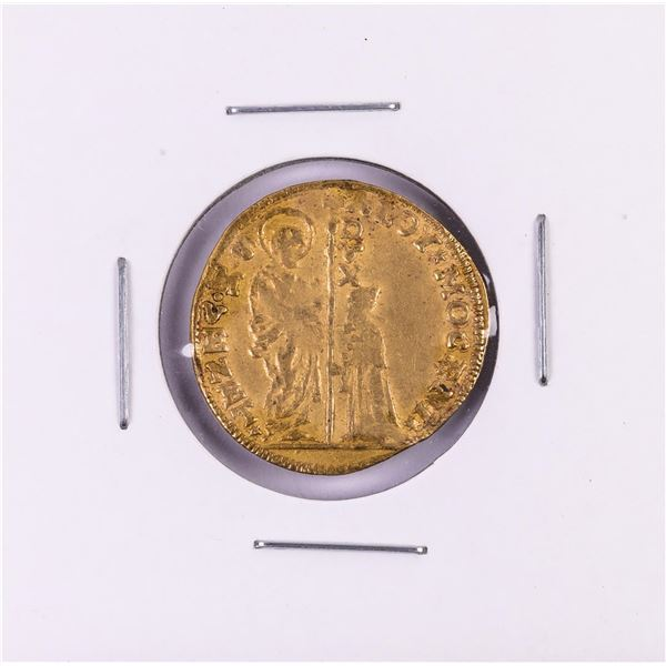 1763-1778 Italy Venice Aloy Mocen Zecchino Gold Coin