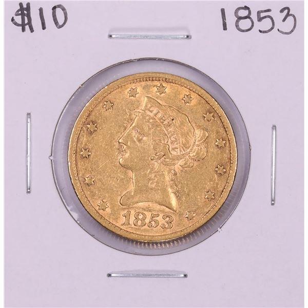 1853 $10 Liberty Head Eagle Gold Coin