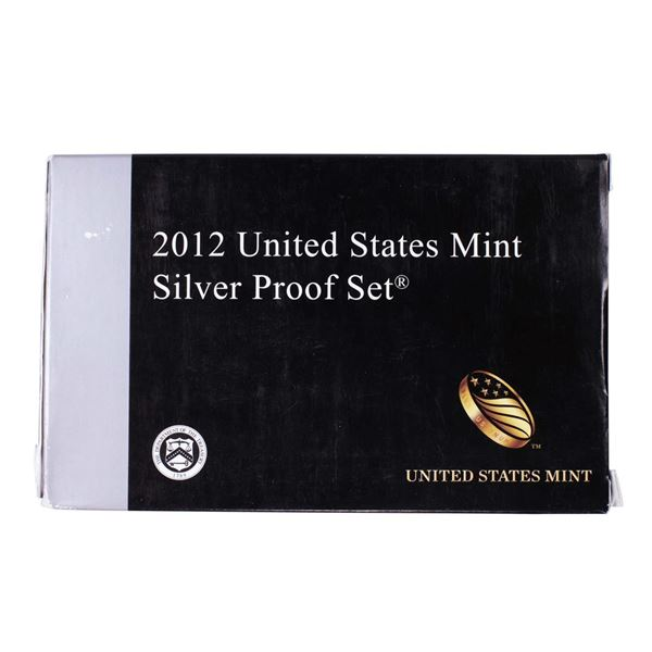 2012-S United States Mint Silver Proof Set with Box and COA