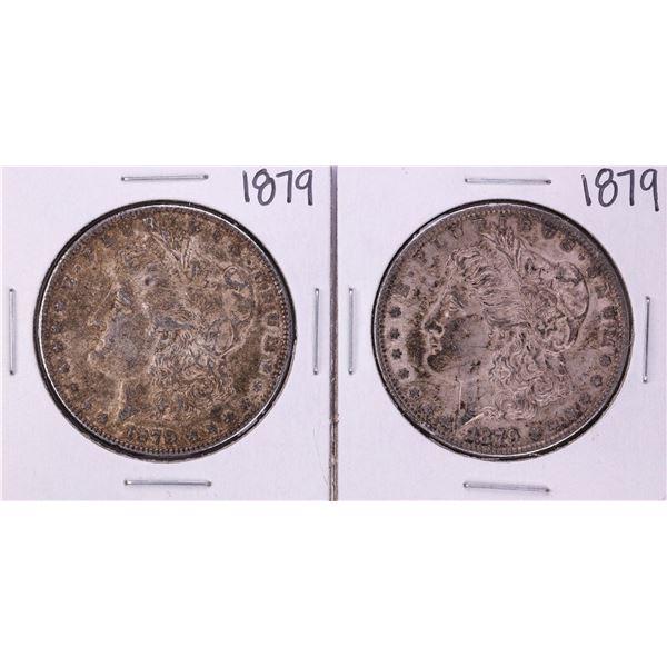 Lot of (2) 1879 $1 Morgan Silver Dollar Coins