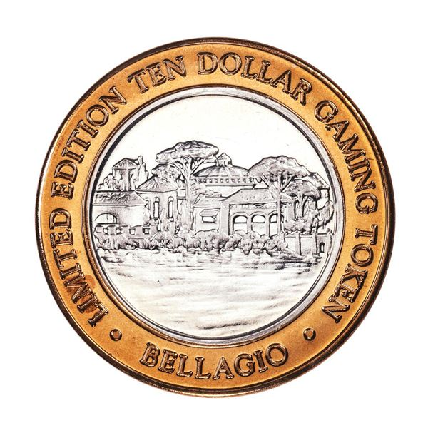 .999 Silver Bellagio Hotel Las Vegas, NV $10 Casino Limited Edition Gaming Token