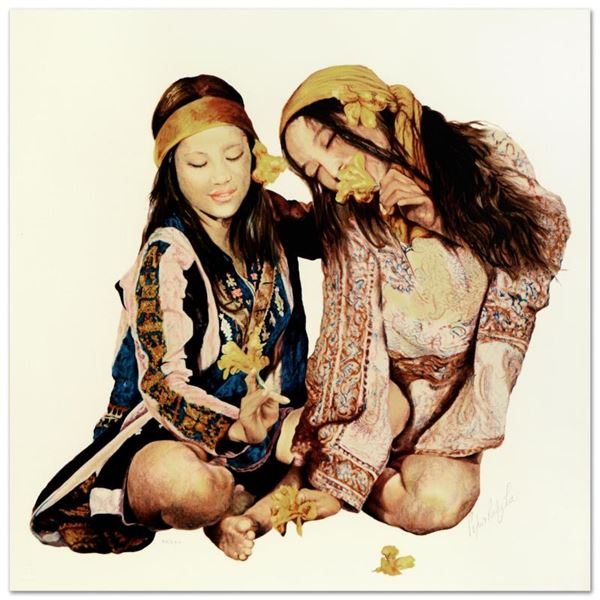 """Popo & Ruby Lee """"Sisters"""" Limited Edition Serigraph On Paper"""
