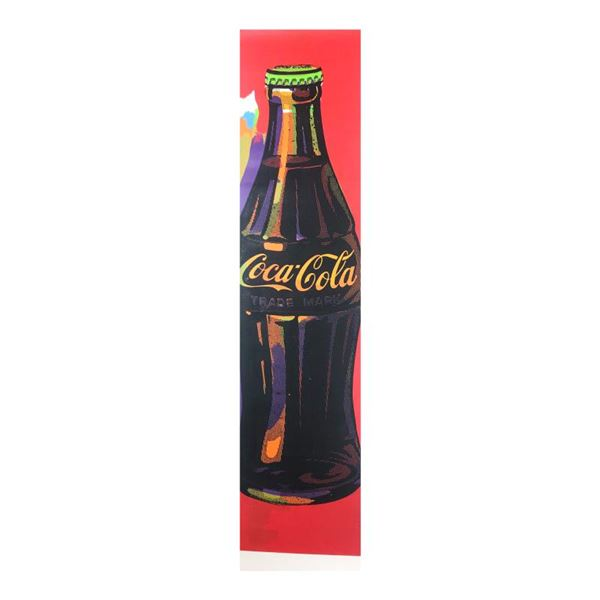 "Steve Kaufman (1960-2010) ""Coca-Cola Bottle"" Original Mixed Media On Canvas"