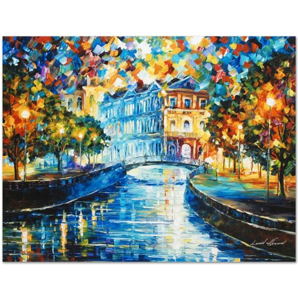 """Afremov (1955-2019) """"House On The Hill"""" Limited Edition Giclee On Canvas"""