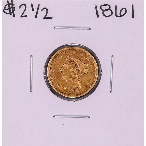 1861 Old Reverse $2 1/2 Liberty Head Quarter Eagle Gold Coin