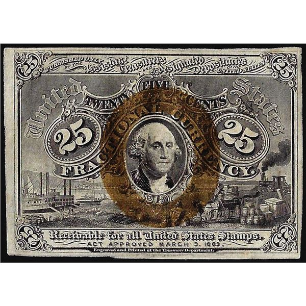 March 3, 1863 Second Issue Twenty-Five Cents Fractional Currency Note
