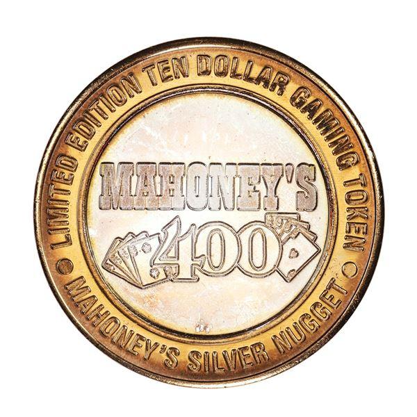 .999 Fine Silver Mahoney's Silver Nugget Las Vegas $10 Limited Edition Gaming Token