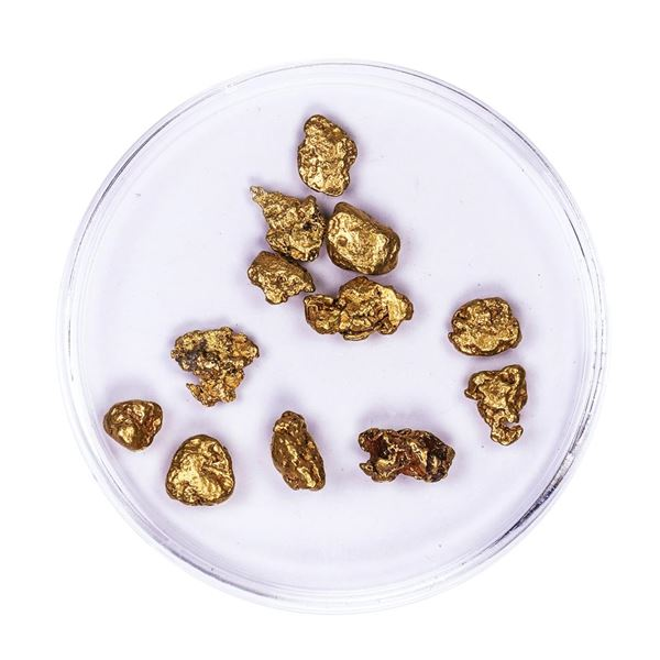 Lot of Gold Nuggets 5.22 grams Total Weight