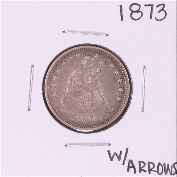 1873 w/ Arrows Seated Liberty Quarter Coin