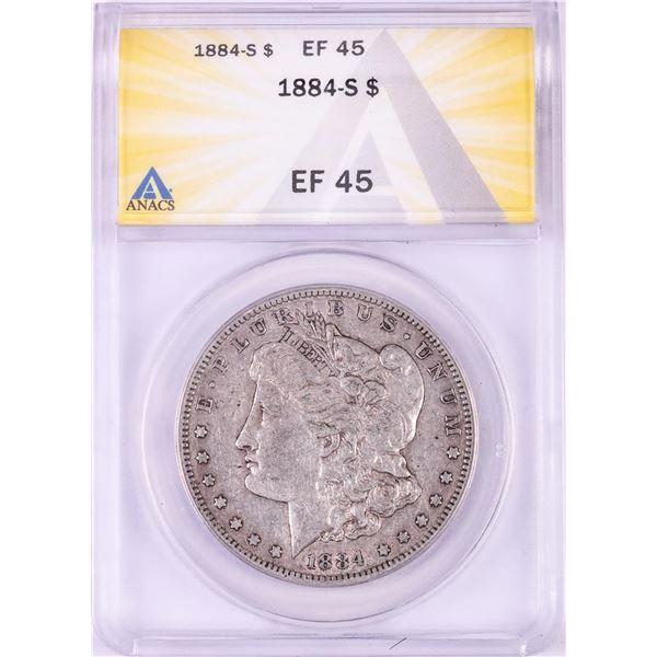 1884-S $1 Morgan Silver Dollar Coin ANACS EF45