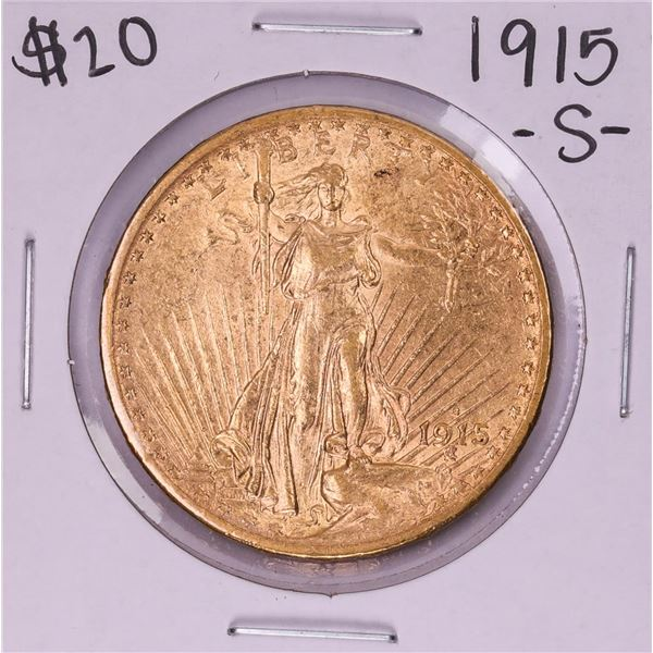 1915-S $20 St. Gaudens Double Eagle Gold Coin