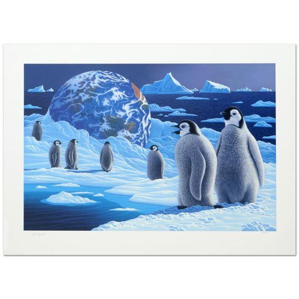 """William Schimmel """"Antarctica'S Children"""" Limited Edition Serigraph On Paper"""