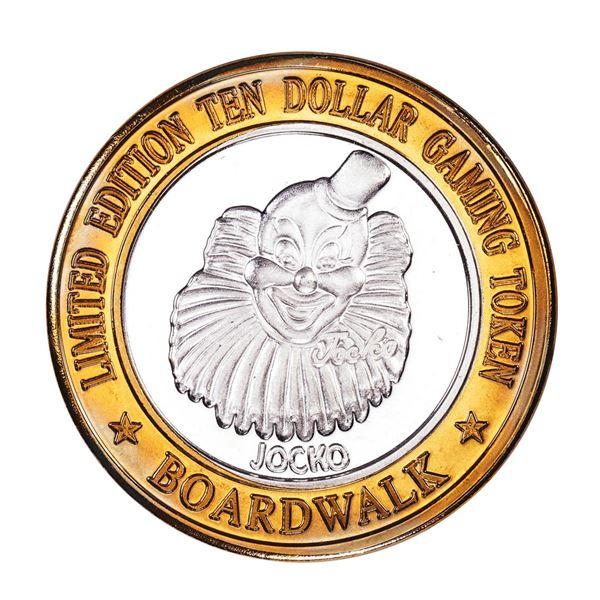 .999 Silver Boardwalk Casino Las Vegas, Nevada $10 Limited Edition Gaming Token